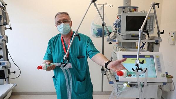 ventilador para dos pacientes